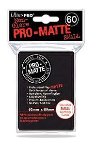 Non-Glare Pro-Matte: Black Small Card Sleeves (62mm x 89mm)