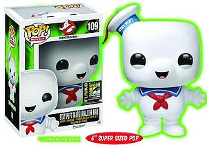 "Pop! Movies Ghostbusters Vinyl Figure 6"" Stay Puft Marshmallow Man (Glows in the Dark) #109 SDCC Exclusive"