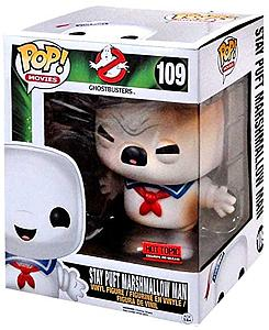 "Pop! Movies Ghostbusters Vinyl Figure 6"" Stay Puft Marshmallow Man (Burnt Version) #109 Hot Topic Pre-Release Exclusive"