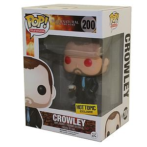 Pop! Television Supernatural Vinyl Figure Crowley #200 (Red Eyes) Hot Topic EXCLUSIVE
