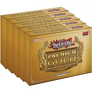 YuGiOh Trading Card Game Premium Gold 2: Return of the Bling Display (5 Mini Boxes)