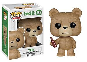 Pop! Movies Ted 2 Vinyl Figure Ted with Beer #188 (Retired)