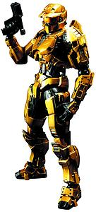 Halo 4 Play Arts Kai: Spartan Mark V Gold