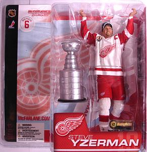 NHL Sportspicks Series 6 Steve Yzerman with Stanley Cup (Detroit Red Wings) White