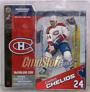 NHL Sportspicks Series 8 Chris Chelios (Montreal Canadiens) White Jersey Variant
