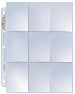 9-Pocket Platinum Page for Standard Size Cards