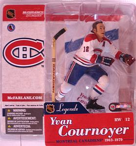NHL Sportspicks Legends Series 1 Yvan Cournoyer (Montreal Canadiens) White Jersey Variant