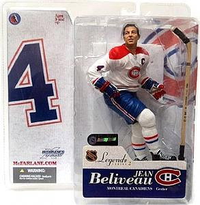 NHL Sportspicks Legends Series 2 Jean Beliveau (Montreal Canadiens) White Jersey Variant