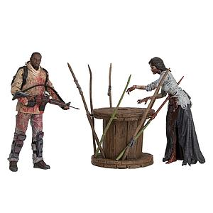 The Walking Dead TV Series 8 Deluxe Box Set - Morgan with Impaled Walker & Trap