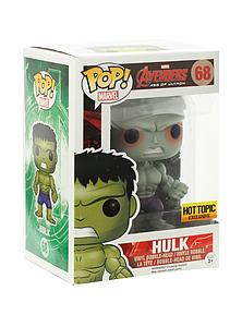 Pop! Marvel Avengers Age of Ultron Vinyl Bobble-Head Hulk #68 Hot Topic Exclusive