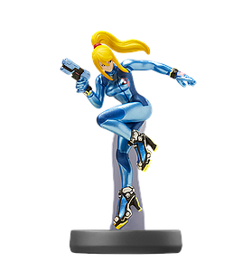 Nintendo Super Smash Bros. Amiibo Mini Figure: Zero Suit Samus