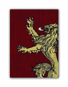 Game of Thrones House Lannister Card Sleeves Board Game Size: Standard Card Game