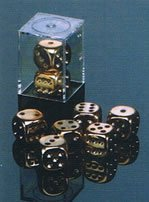 Dice 2D6 Set - Metal Plated Copper