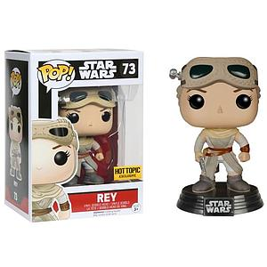 Pop! Star Wars The Force Awakens Vinyl Bobble-Head Rey (Goggles) #73 Hot Topic Exclusive
