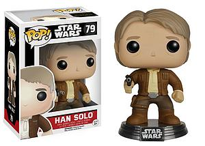 Pop! Star Wars The Force Awakens Vinyl Bobble-Head Han Solo #79 (Vaulted)