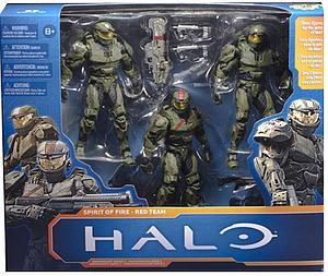"Halo 10th Anniversary 6"" Box Set: Halo Wars Spirit of Fire - Red Team"