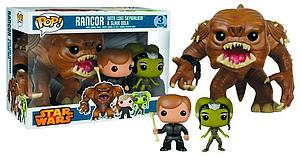 "Pop! Star Wars Vinyl Bobble-Head 6"" Rancor with Luke & Slave Oola 3-Pack PX Previews Exclusive"