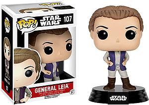 Pop! Star Wars The Force Awakens Vinyl Bobble-Head General Leia #107 (Retired)