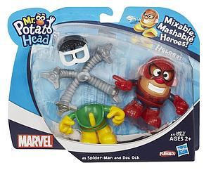 Mr. Potato Head Marvel Mixable Mashable Heroes Spiderman & Doc Ock
