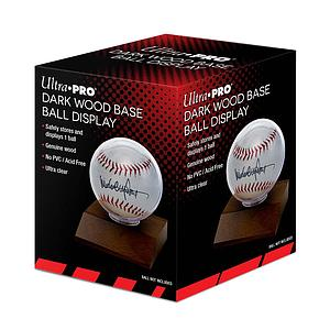 Baseball Dark Wood Holder