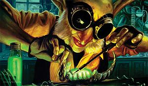 Trading Card Game Playmat: Goblin Engineer by Scott Murphy