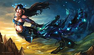 Trading Card Game Playmat: Nyx Greek Goddess by Alayna Lemmer