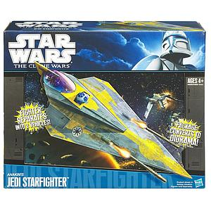 Star Wars The Clone Wars Vehicles: Anakin's Jedi Starfighter (Canadian Packaging)
