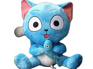 Fairy Tail Plush Happy with Fish (12 Inch)
