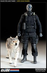 Sideshow Collectibles G.I. Joe A Real American Hero 12 Inch Doll Figure - Snake Eyes and Timber