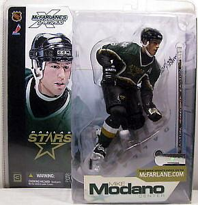 NHL Sportspicks Series 3 Mike Modano (Dallas Stars) Green Jersey Variant (Green Socks)