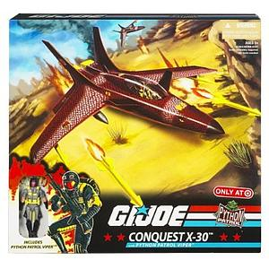 G.I. Joe Exclusive 3 3/4 Inch Vehicle: Conquest X-30 with Python Patrol Viper