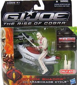 G.I. Joe The Rise of Cobra 3 3/4 Inch Exclusive: Storm Shadow with Arashikade Cycle