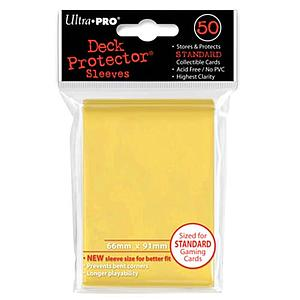 Card Sleeves 50-pack Standard Size: Yellow