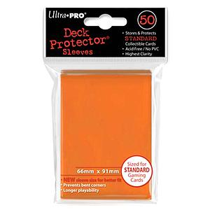 Card Sleeves 50-pack Standard Size: Orange