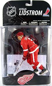 NHL Sportspicks Series 20 Nicklas Lidstrom (Detroit Red Wings) Red Jersey w/ Stanley Cup Patch VARIANT