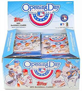 2013 MLB Opening Day Baseball: Hobby Pack (7 Cards)