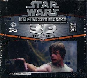 Topps Star Wars The Empire Strikes Back 3D Trading Cards: Sealed Box