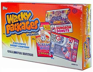 Topps Wacky Packages Series 10 Trading Card Stickers Collector Edition: Hobby Box (24 Packs)