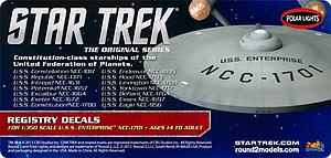 Star Trek USS Enterprise Registry Decals (MKA010)