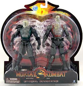"Mortal Kombat Klassic 6"" 2-Pack: Internal Devastation (Reptile & Jax)"