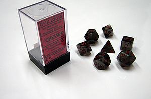 Dice 7-Piece Polyhedral Set - Translucent Smoke w/Red