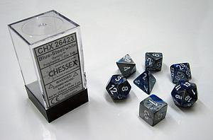 Dice 7-Piece Polyhedral Set - Gemini Blue Steel White