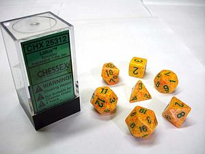 Dice 7-Piece Polyhedral Set - Speckled Lotus