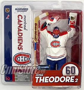 NHL Sportspicks Series 10 Jose Theodore (Montreal Canadiens) White Jersey Variant
