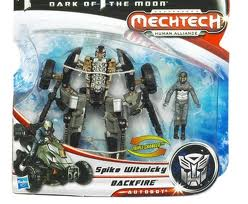 Transformers Dark of the Moon Series Scout Class Backfire & Spike Witwicky