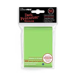 Card Sleeves 50-pack Standard Size: Lime Green