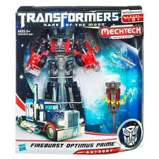 Transformers Dark of the Moon Series Voyager Class Fireburst Optimus Prime