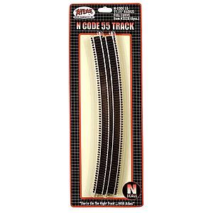 "Code 55 Track 21.25"" Radius Full Curve [6 Pieces] (2028)"