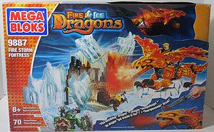 Mega Bloks Fire/Ice Dragons: Fire Storm Fortress (9887)