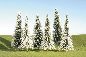 "8"" - 10"" Pine Trees with Snow [3 Pieces] (32202)"